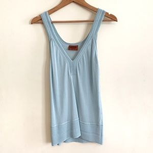 Missoni Mint Green Solid Rayon Tank Top Size 40